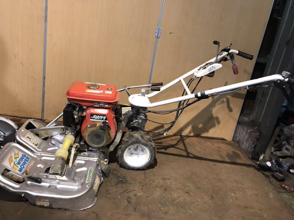 OREC オーレック ウィングモア 自走式あぜ草刈機 芝刈り機 WM606D エンジン始動確認 中古