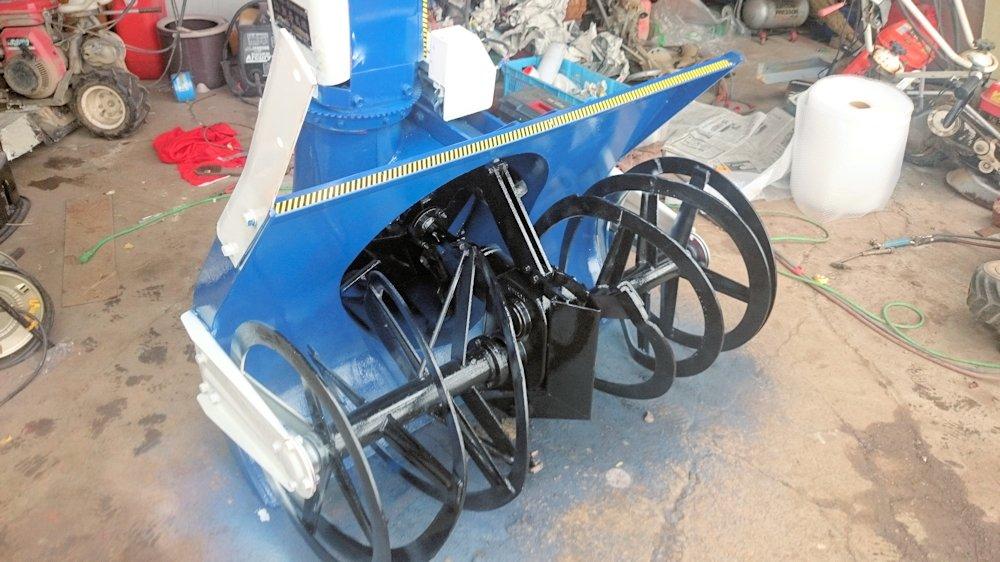 トラクター用 除雪機 スノーラッセル 熊谷農機 GS-1200RC 電動シュータ 実働美品 中古