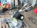 自走二面畦(あぜ)草刈機 オーレック WM706 整備塗装 ナイフ新品 中古 カワサキFE170 5.6馬力