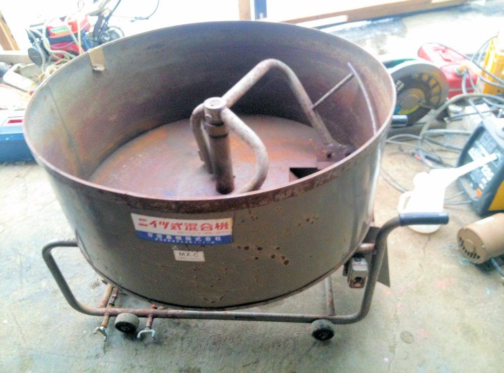 吉徳農機 ニイツ式 混合機 撹拌 コンクリート モルタル 肥料 ミキサー 改造用