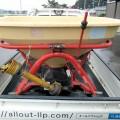 ニプロ 肥料散布機 ブロードキャスター MP405 ジョイント付 実働品 中古 美品