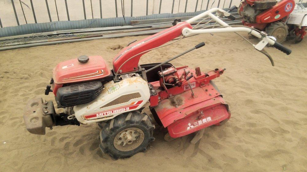 三菱 耕運機 管理機 マイミニ MM501S 中耕ロータリー ハンドル回動 中古 農家委託品