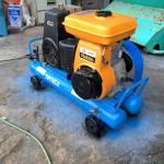 岩田塗装 イワタ エンジンコンプレッサー SUE-152P 5馬力 整備塗装済 中古