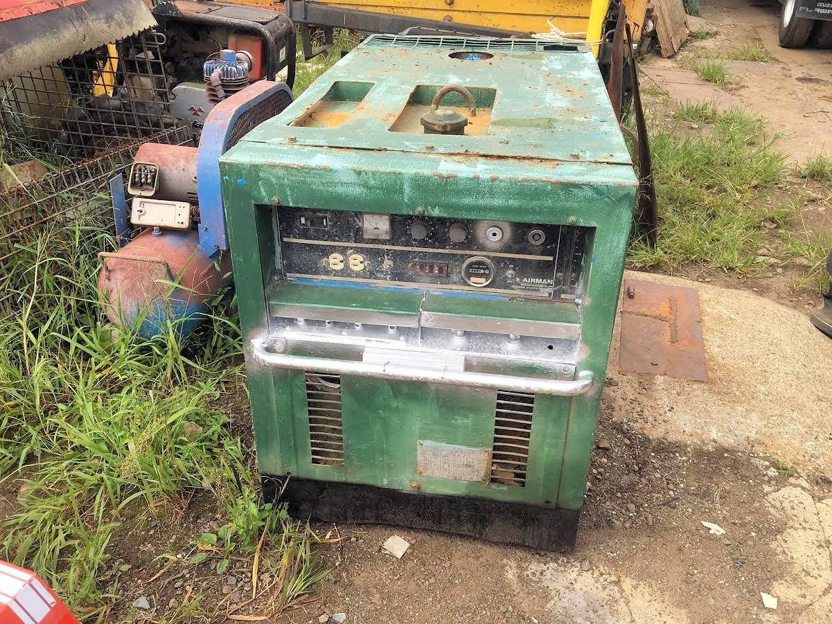 エアマン 10KVAブラシレス溶接 発電機PDW280SBL-51 100/200V 現状部品取り 中古 4312h
