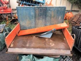 富士整地キャリア 除雪機 リアバケット ダンプ トラクター3点リンク取付 スキ付 現状中古