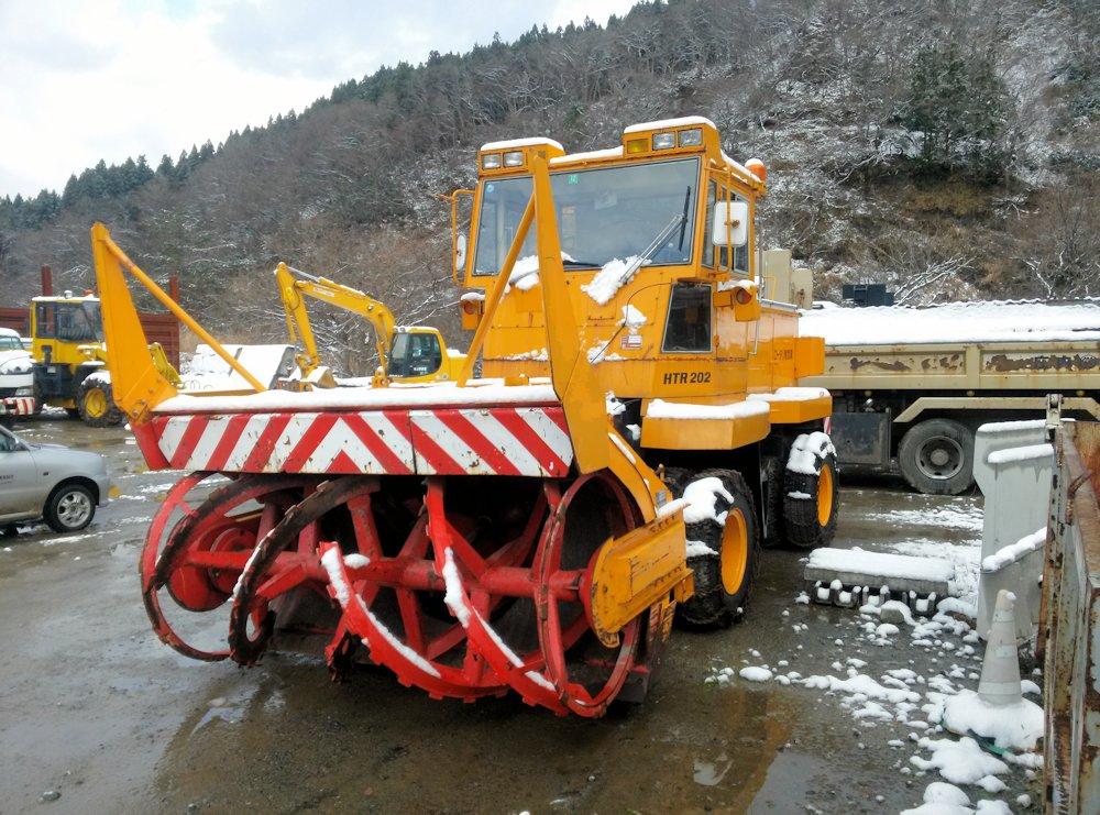 ニッセキ HTR-202 日本除雪機製作所 ロータリ除雪車 4速 建設機械 昭和62年式 7165km