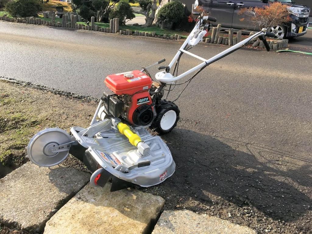 オーレック ウィングモア 2面畦(あぜ) 草刈機 WM706 新品ナイフ付属 6馬力 中古 整備済
