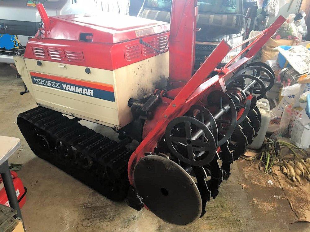 ヤンマー ディーゼル 除雪機 YSR1300 2段オーガ 13馬力 上下左右油圧 ローリング 完全実働品 中古