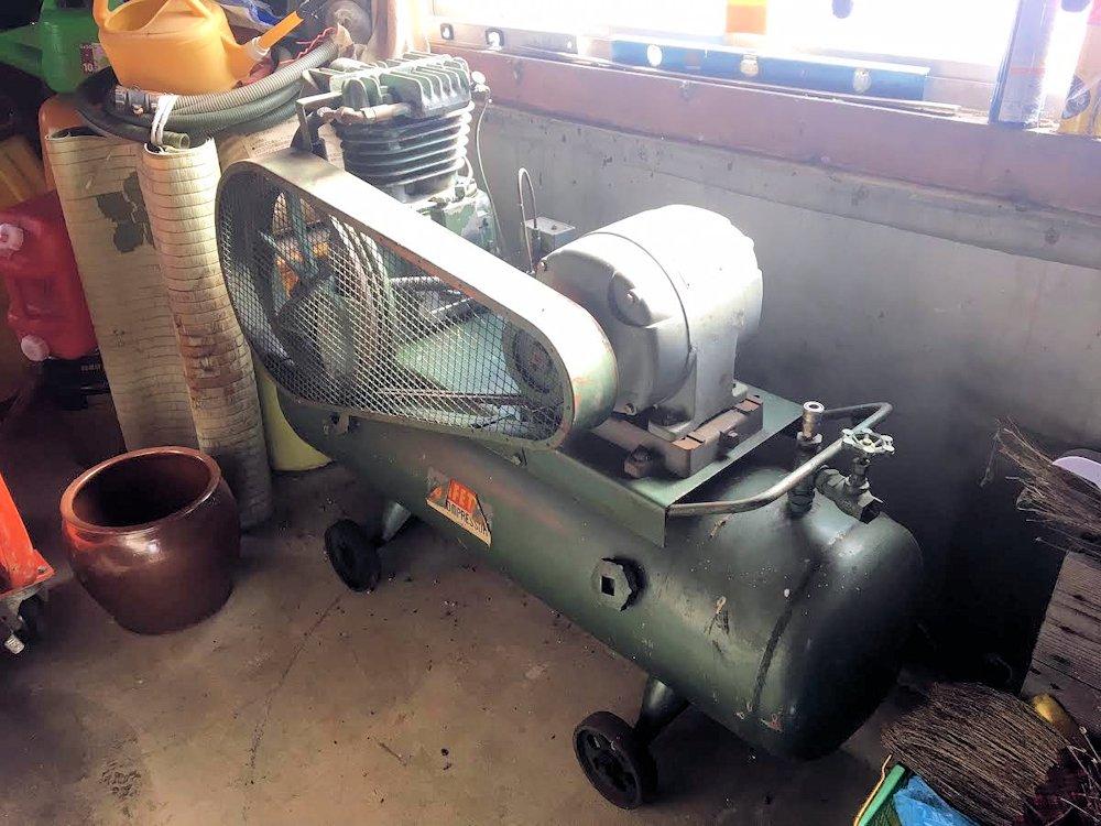 SAFETY エアーコンプレッサー 200V 中古 PH-7P 2.2kw タンク容量 160リットル 安全自動車株式会社