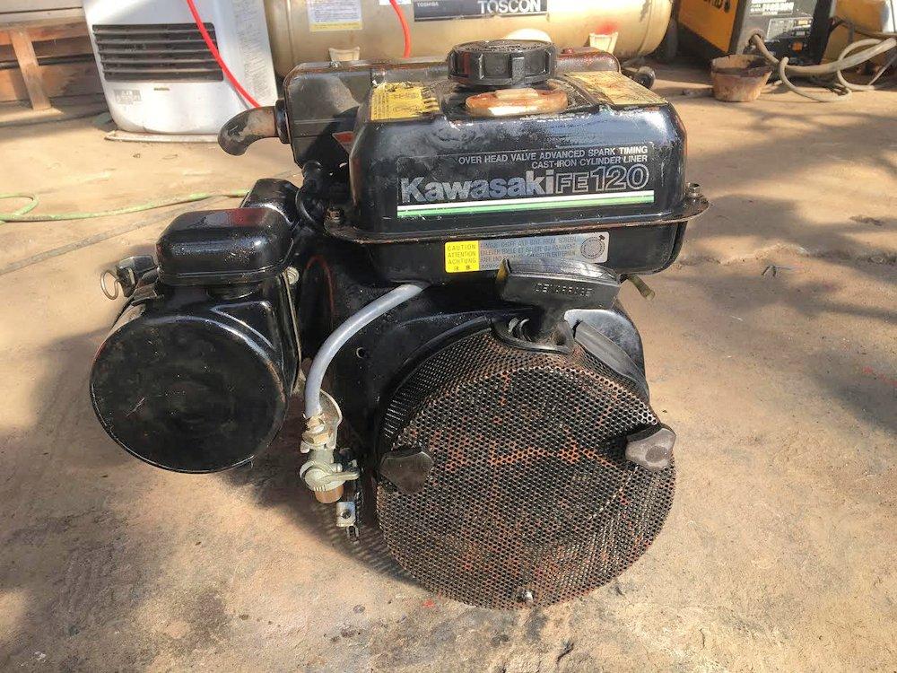 カワサキ エンジン 単体 4馬力 キャブレターオーバホール済 エンジンオーバーホール済 実働品 中古
