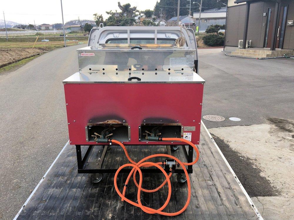 アサヒサンレッド 石焼き芋機 AY1500 LPガス 実働品 中古