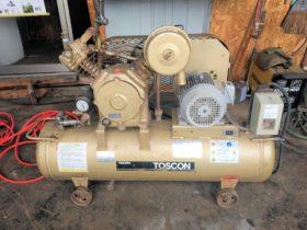 東芝 トスコン TOSCON エアーコンプレッサー SP105-22T8 三相 200V 3馬力 2.2kW 中古
