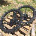 クボタ田植機 補助車輪 中古 社外タイヤ ブリヂストン 3.00-25 820mm 六角軸