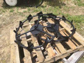三菱田植機 鉄製 補助車輪 中古 丸軸 直径 840mm