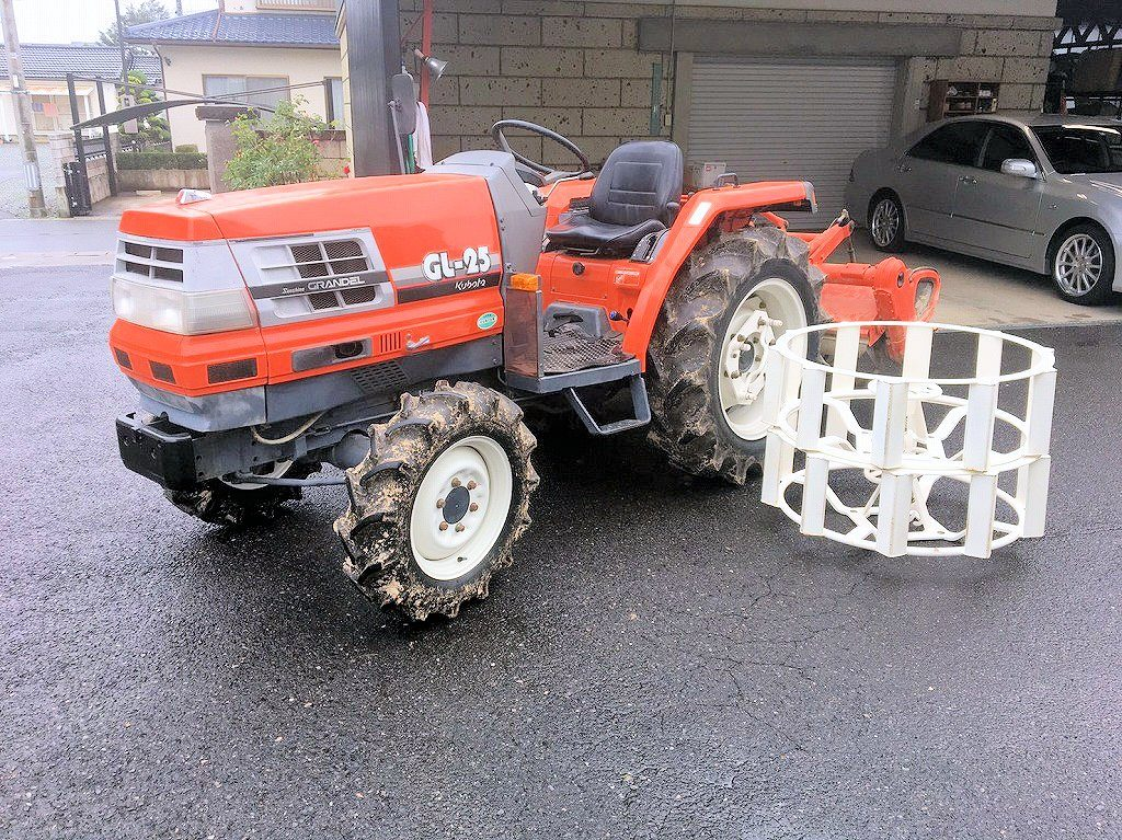 クボタ トラクター 中古 GL-25 ダイヤホイール(かご車輪)セット 982時間 倍速ターン モンロー 逆転PTO付 RL15G 委託販売