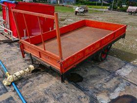 トラクター用 牽引トレーラー 中古 サンワ車両 ダブルタイヤ コンバイン 田植機積載 重量物の運搬