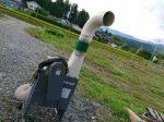 籾すり機連結送塵機 もみがら収集機 搬送 石井製作所 FX-62 現行モデル 離農品 実働 中古