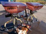 ブロードキャスター 肥料散布機 中古 サンソワー RS100G ジョーニシ トップリンク付 ロータリー取付用 実働品 離農品 現状