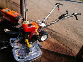 畦二面草刈機 中古 WM606A 作業カバー溶接補強 整備塗装