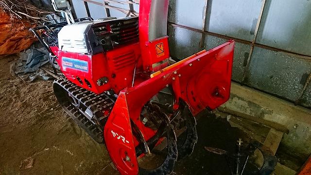 ヤンマー 除雪機 YSRA100DX ディーゼル10馬力 オーガ難あり クローラ上々 中古 現状
