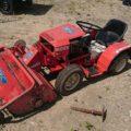乗用草刈機 ハンマーナイフローター オーレック 共立 バーディー RB131 13馬力 H90B 作業部上下油圧式 完全実働品 中古