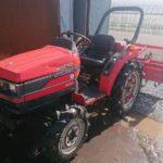 三菱 トラクター MT240 モンロー付 24馬力 4WD(四駆) 1173H ロータリーRA155 実働品 中古 離農農家 現状