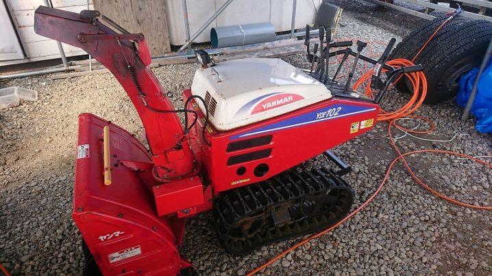 ヤンマー中型 除雪機 YSR102 電動シューター 無段変速HST 油圧ローリング 10.5馬力 中古