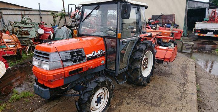 クボタ トラクター GL29 キャビン仕様 29馬力 ロータリー付 1617h 実働 中古品 現状