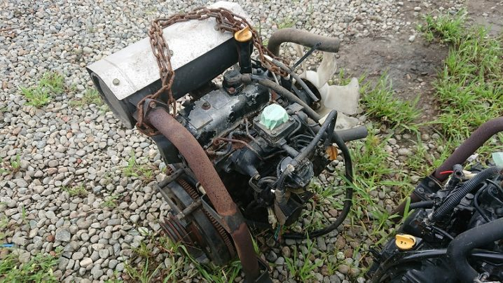 ヤンマー ディーゼルエンジン 3TNE84-RBC 中古 稼働 600H前後のコンバインより