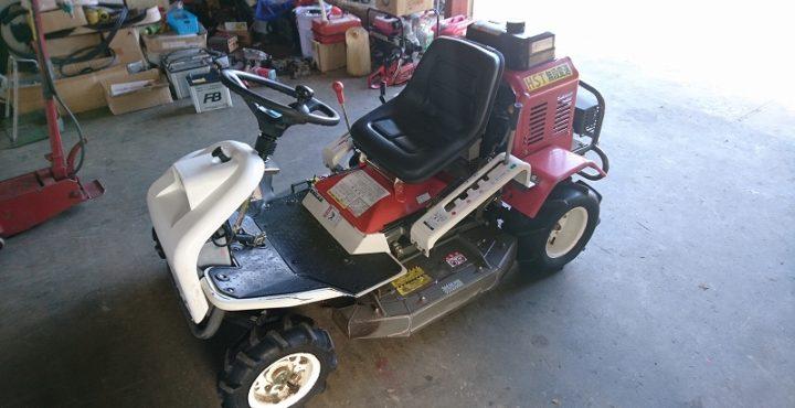 乗用草刈機 オーレック(共立) ラビットモアー RM86A カワサキ 15馬力 実働品 美品 中古