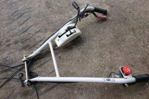 ウィングモア草刈機 ハンドル一式 WM626 636 WM726 736 ワイヤー スイッチ付属 中古 美品
