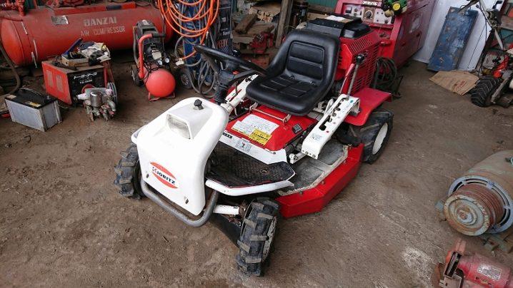 オーレック(共立) 乗用草刈機 RM95 ラビットモアー HST変速 作業部状態良好!18馬力 実働 中古