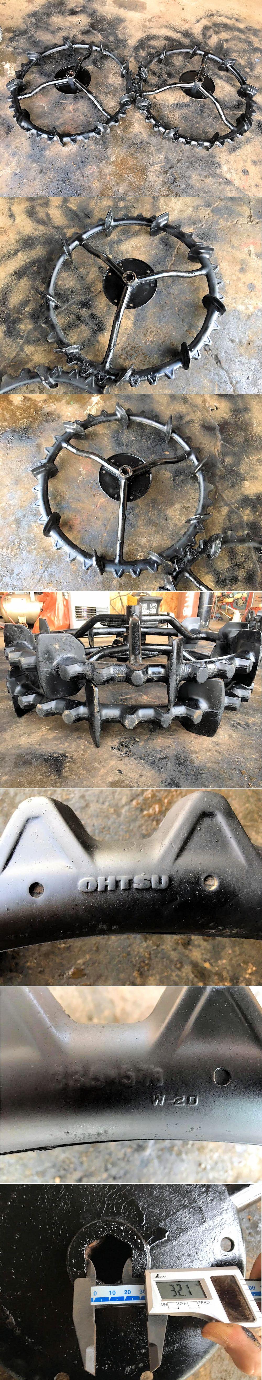 田植機 後輪 クボタ 六角軸 オーツ 33.5×5 7/8 車輪幅810mm 直径 2本セット 中古