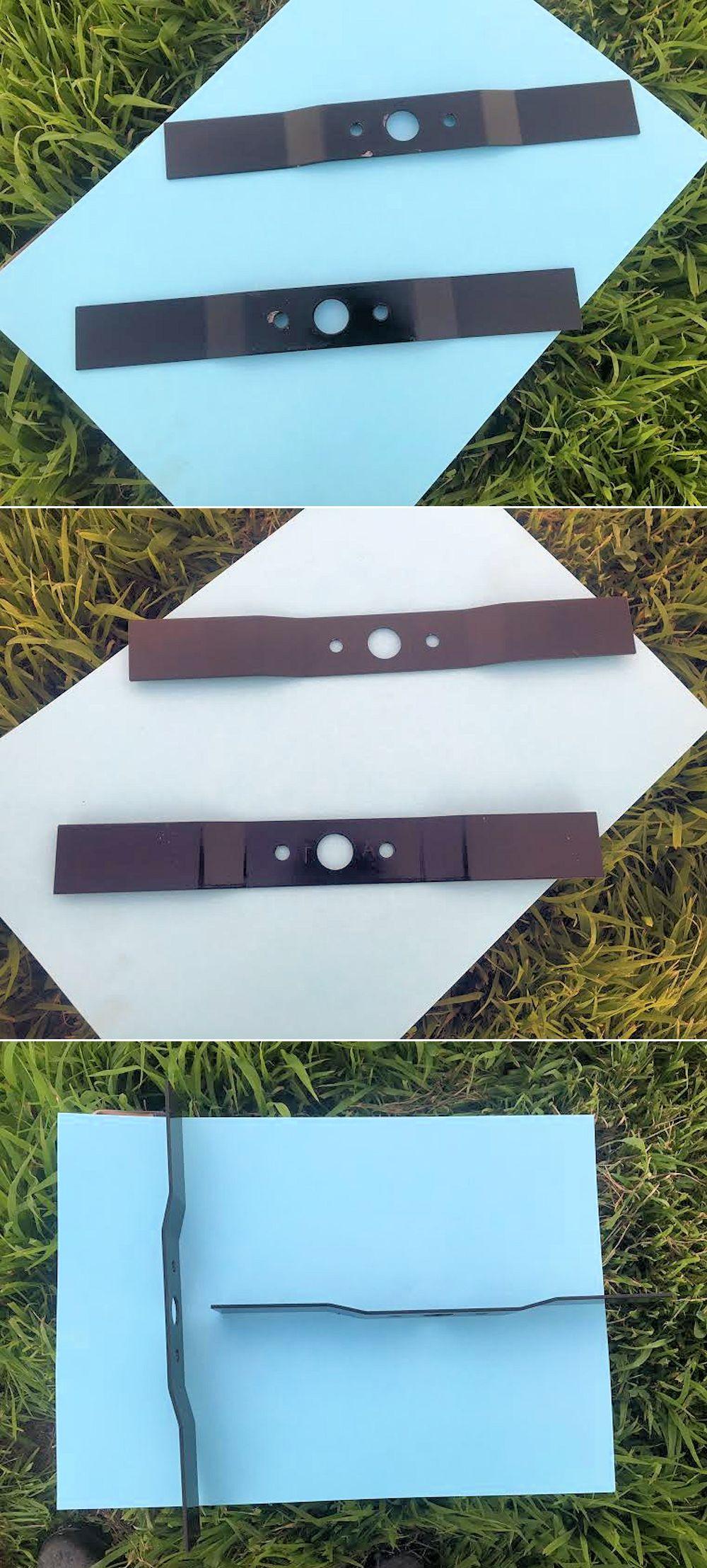 オーレック 二面畦草刈機 ウィングモア用 ナイフ ブレード 35cm 極薄3mm 2枚 1台分 切れ味抜群!新品