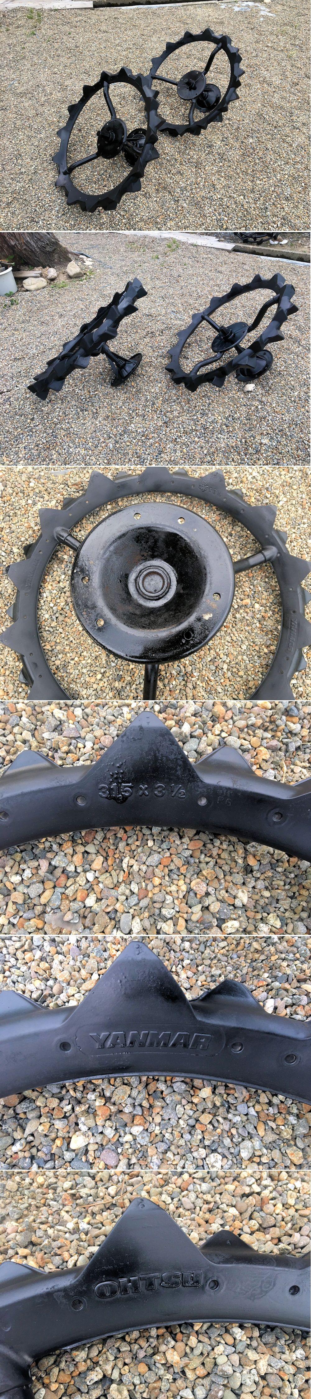 ヤンマー田植機 後輪補助車輪 31.5×3 1/2 直径80cm 軸径31装着 外付けパーツ付 マルチ6穴 美品中古